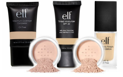 e.l.f. foundations and concealers