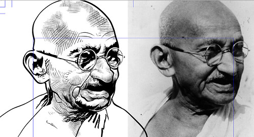 Um certo Mahatma Gandhi (in progress) by Fragadesenhos