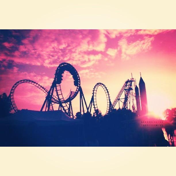 Roller Coaster Rollercoaster Coaster Roller Sunset T