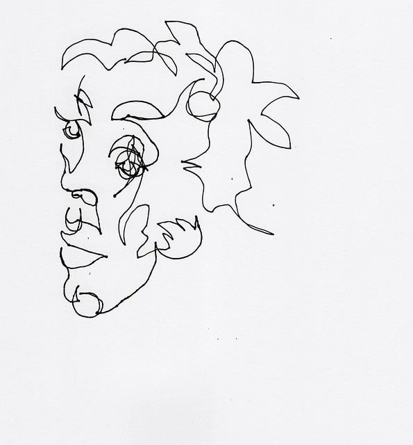 Contour Line Drawing App : Blind contour line drawing draw flickr