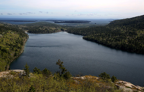 Jordan Pond and the Atlantic by gladner