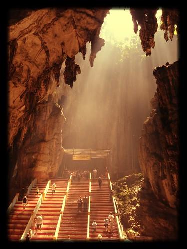 indonesia landscape cave batu batucaves