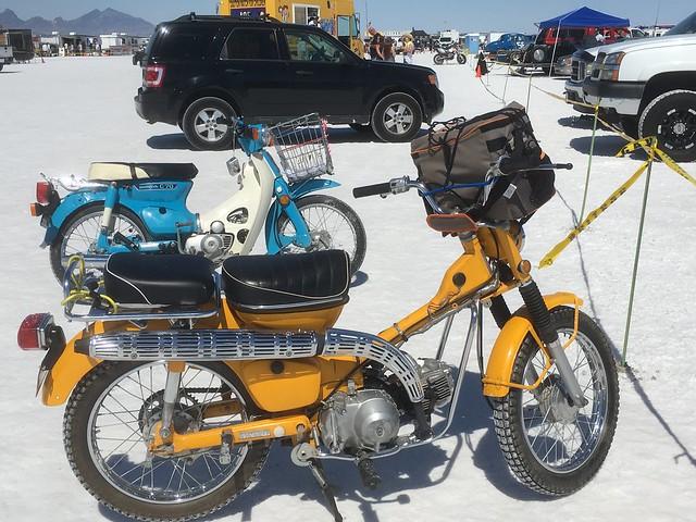 Honda Trail 90 pit bike @ Bonneville Speed Week, 2016