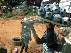 Girls roadside hawking asala and bitter kolas, Igbara Oke, Ondo, Nigeria. #JujuFilms