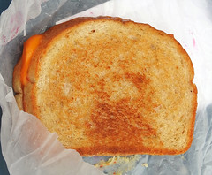 Grilled cheese from the Dairy Barn at the Indiana…