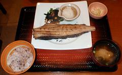 #8989 dinner: Okhotsk atka mackerel (ホッケ)