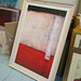 Off white framed large print