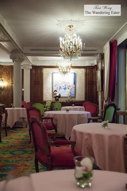 Restaurant interior, nearing midnight