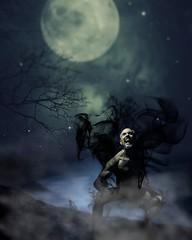 Howl at the moon. #howlatthemoon #austin #atxphotographer #austinphotographer #satx #satxphotographer #sanantonio #werewolf #werewolves #halloween #frightfest #runaway #demon