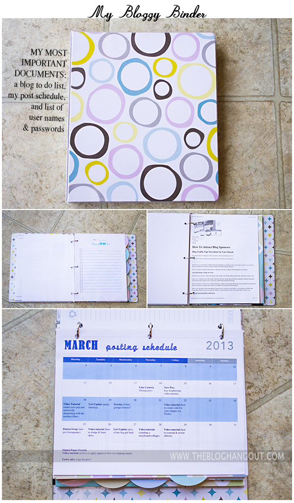 Binder pics for The Blog Hangout