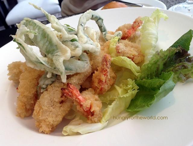 mixed seafood. enjoyed the kangkong tempura (i think)