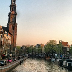 Amsterdam was good to us today. #travel #holland #sunset