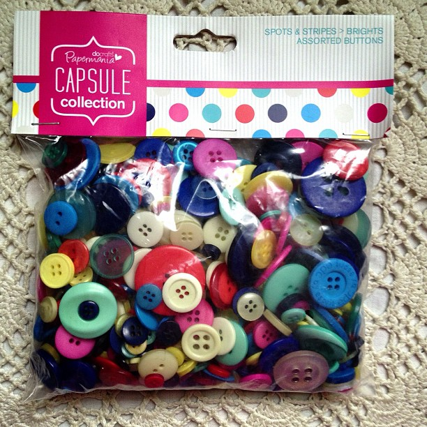 I also bought us a huge bag of buttons, my niece has started to craft with them and I can't wait to. They sell bags with all the same colours in also. #bag #buttons #big #small #rainbow #colourful
