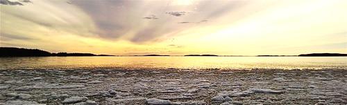 sunset lake ice saimaa lumia lumia920