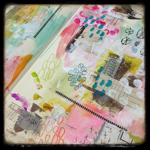 Journal page love...first layers! #artjournaling #mixedmedia