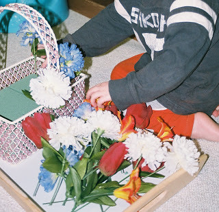 Flower Arranging (Photo from Simply Montessori)