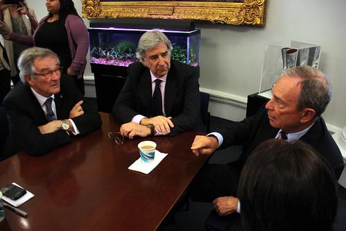 L´alcalde Trias es reuneix amb l´alcalde de Nova York, Michael Bloomberg