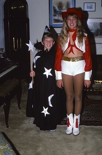 Indiana   -   Terre Haute   -   RR 21 Box 443   -   Halloween   -   I made Jeb's Wizard Costume, Jessica borrowed hers from Romie   -   October 1984