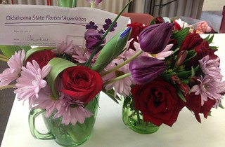 Beautiful flowers brighten up the Moore Community Center