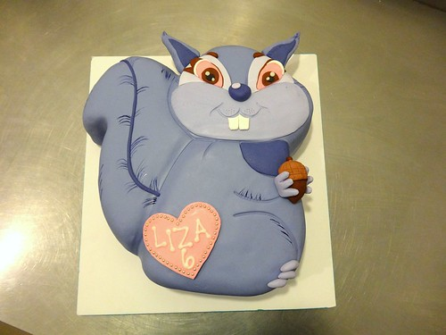 Purple Squirrel Cake by CAKE Amsterdam - Cakes by ZOBOT