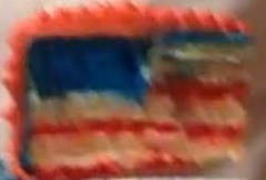 Union Jack cake slice