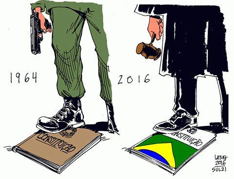 O passado e o presente - Créditos: Latuff/Sul 21