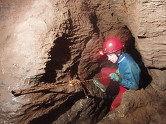 Michael climbing down the Water Chute Image