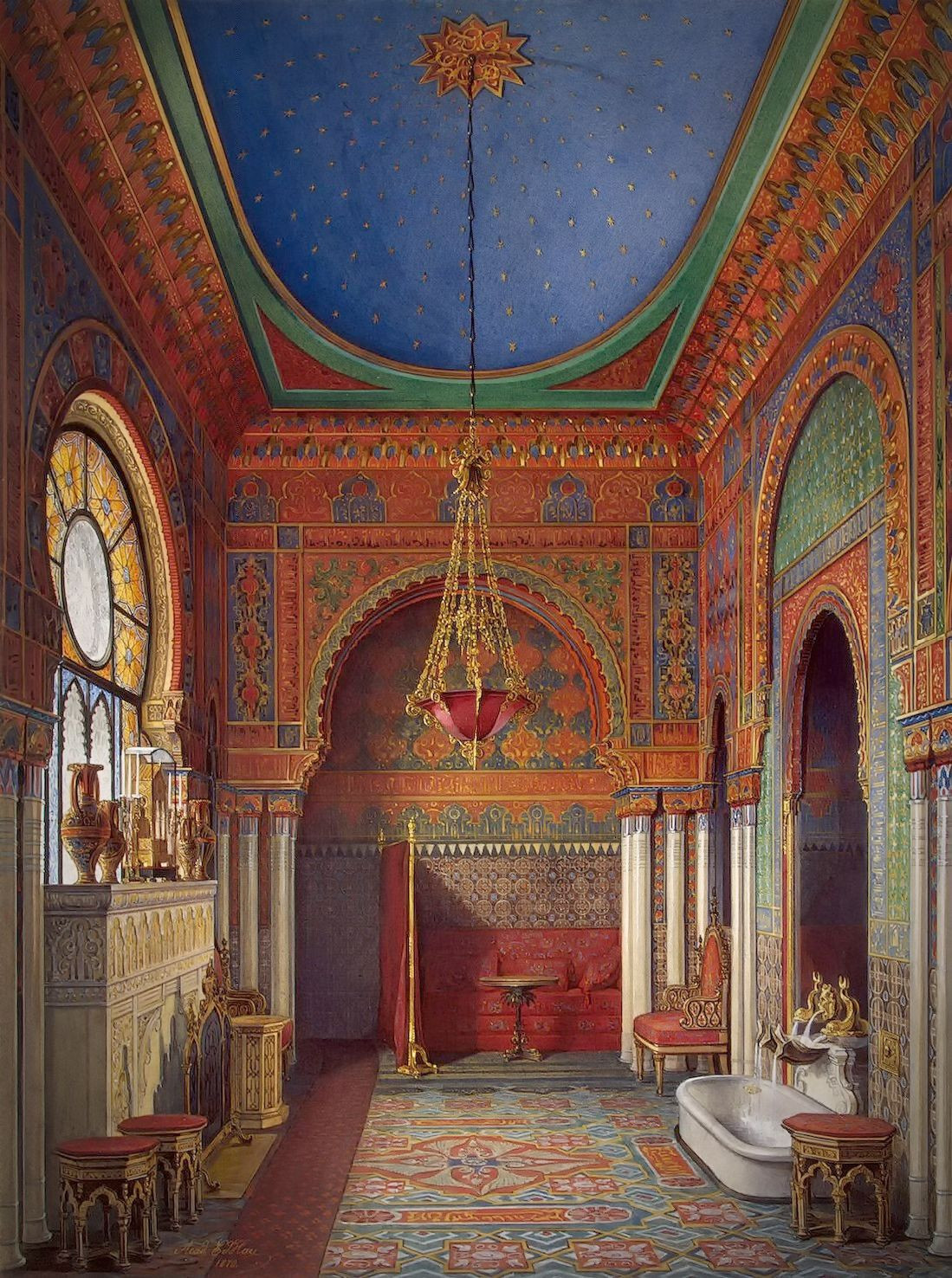 The Bathroom of Empress Alexandra Fyodorovna, 1869