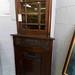 Tall mahogany corner Victorian display cabinets