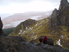 The very windy top of the Old Man of Storr Image