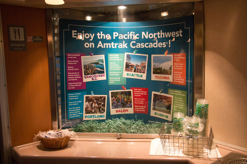 Advertisements for Amtrak Cascades