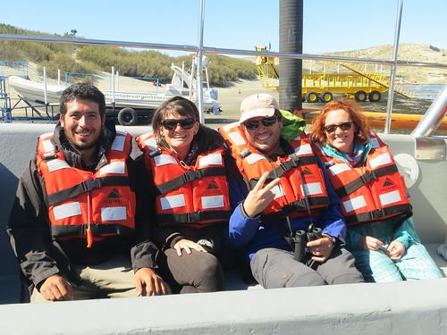Puerto Piramides: les deux sympathiques Italiens avec qui nous faisons le road trip aujourd'hui