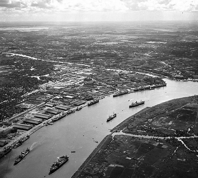 Saigon Aerial View - KHÔNG ẢNH SAIGON 1955