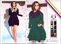 ~ϻ:SEPTEMBER Long Sleeve Dress HUD 8 COLOR