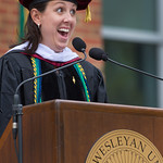 13cmc09 -- Student Senate Professor of the Year Meghan Burke gives her reflections on behalf of the faculty.