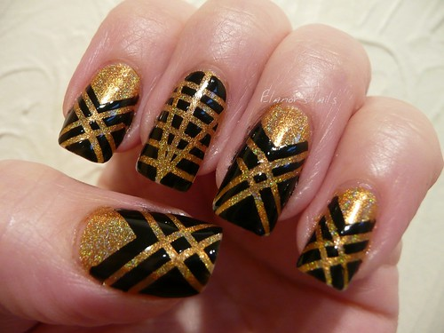art deco tape nails 2