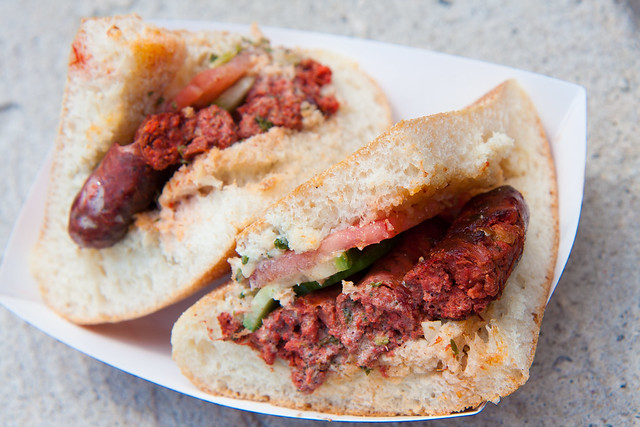 Merguez sandwich, Nadia's
