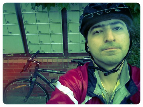 biking in the rain... not a good idea afterall by Khosrow on flickr