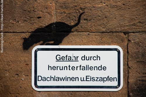 Eisgefahr-Streetart
