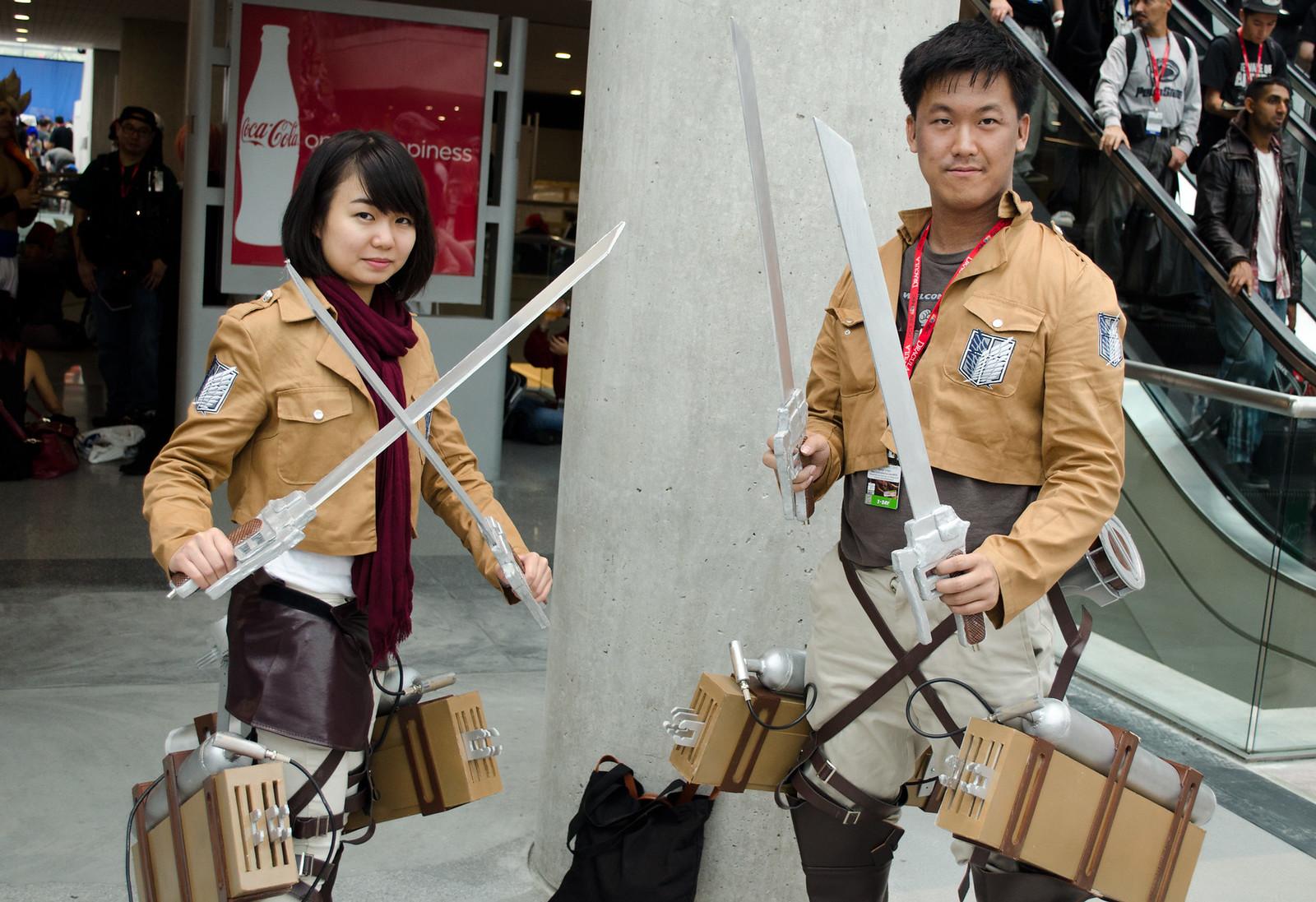 NYCC Mikasa & Eren Cosplay