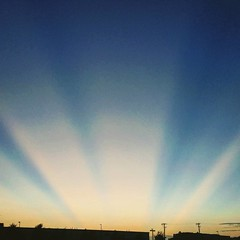 #sunset over #mansfield #texasgram #texaslife #sunbeams