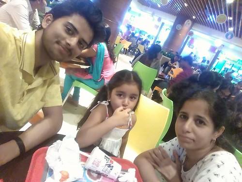 #Didi #Niece #Mcdonalds #Burger #RCity #Mall #Mumbai #MumbaiLøve