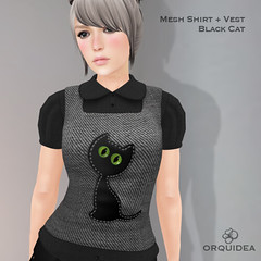 ORQUIDEA Black Cat Shirt and Vest ad