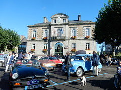Town hall with classic cars, Avranches