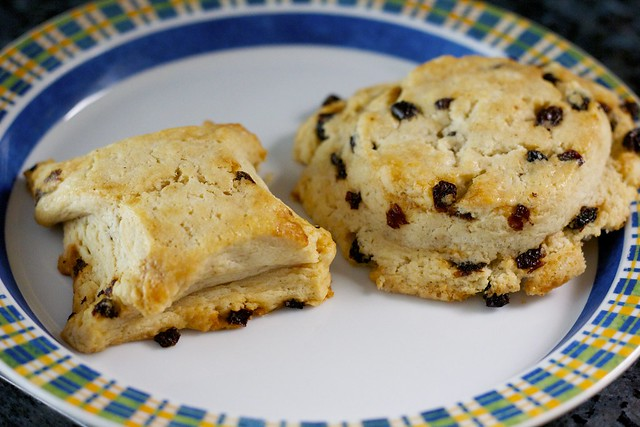 vanilla currant scones