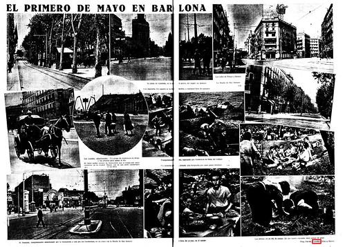Barcelona, 1 de mayo de 1936, hemeroteca La Vanguardia, 3 de mayo de 1936. by Octavi Centelles