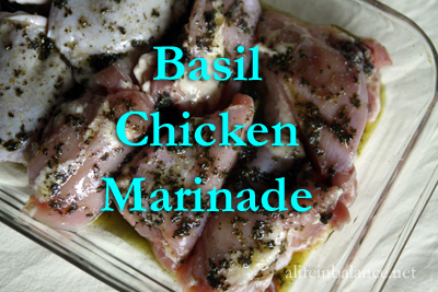 Basil Chicken Marinade