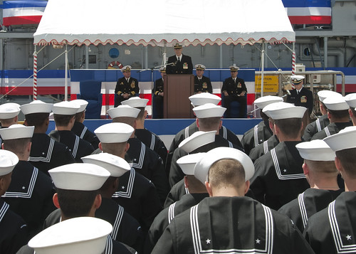 USS Warrior Change Of Command on May 2, 2013