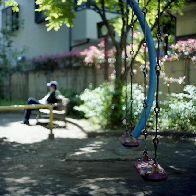 木陰のブランコ