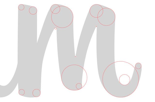 Desain jenis huruf yang dipakai pada logo Instagram